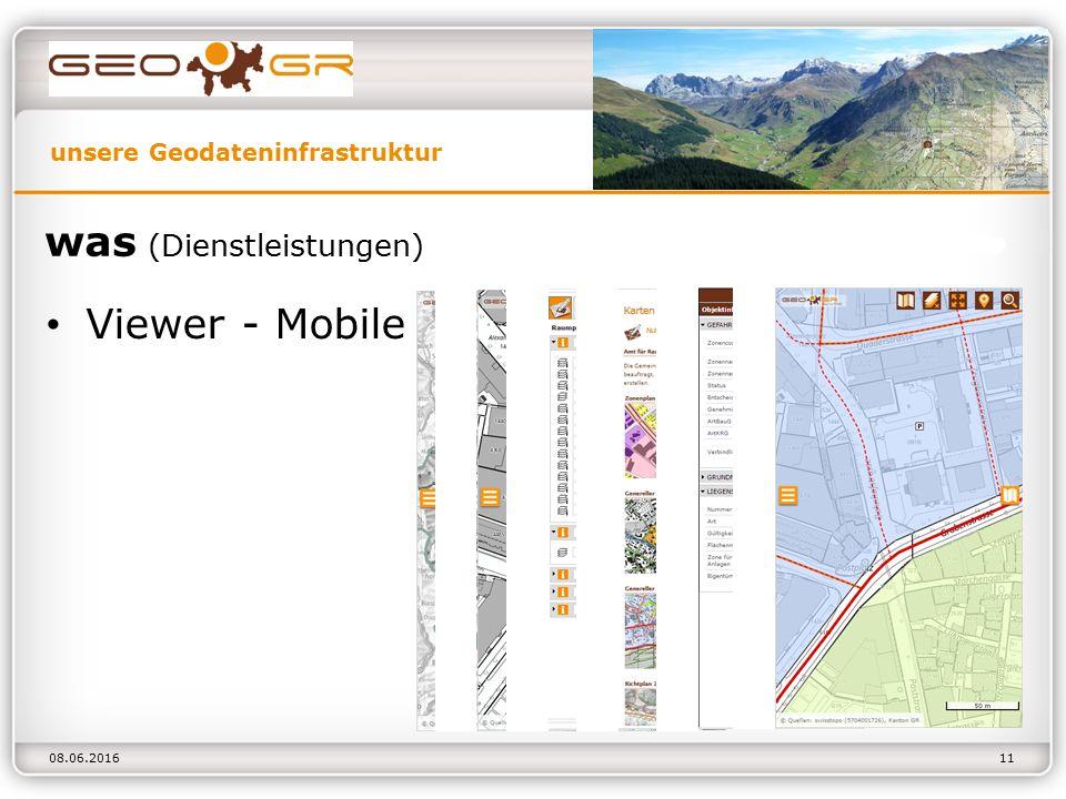 unsere Geodateninfrastruktur 08.06.2016 was (Dienstleistungen) Viewer - Mobile 11