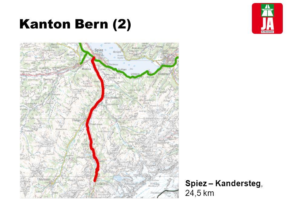 Kanton Bern (2) Spiez – Kandersteg, 24,5 km