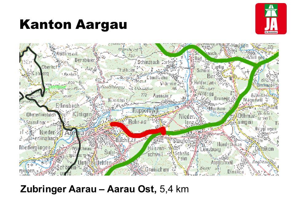 Kanton Aargau Einsparung bei Betrieb und Unterhalt*1,97 Mio.