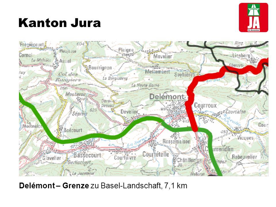 Kanton Jura Delémont – Grenze zu Basel-Landschaft, 7,1 km
