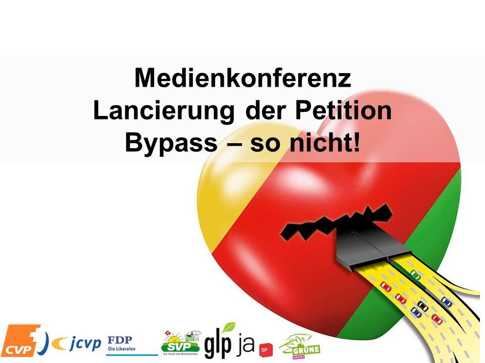 Medienkonferenz Lancierung der Petition Bypass – so nicht!