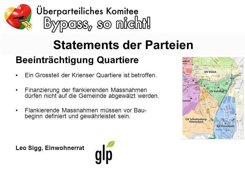 Beeinträchtigung Quartiere Ein Grossteil der Krienser Quartiere ist betroffen.