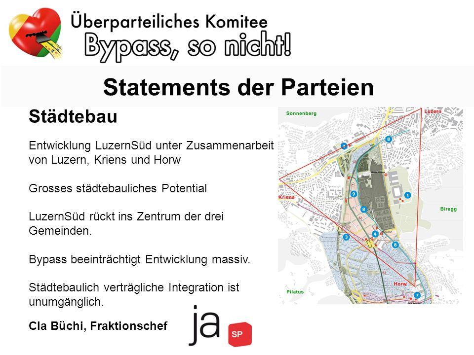 Städtebau Entwicklung LuzernSüd unter Zusammenarbeit von Luzern, Kriens und Horw Grosses städtebauliches Potential LuzernSüd rückt ins Zentrum der drei Gemeinden.