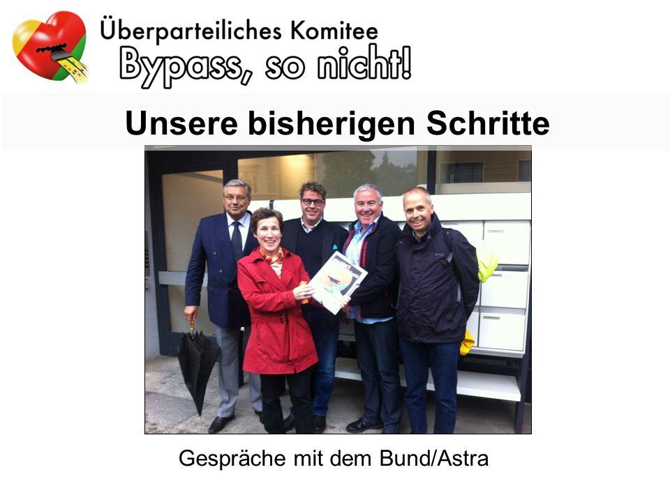 Unsere bisherigen Schritte Gespräche mit dem Bund/Astra