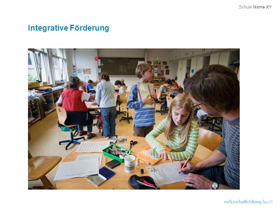 Integrative Förderung Schule Name XY