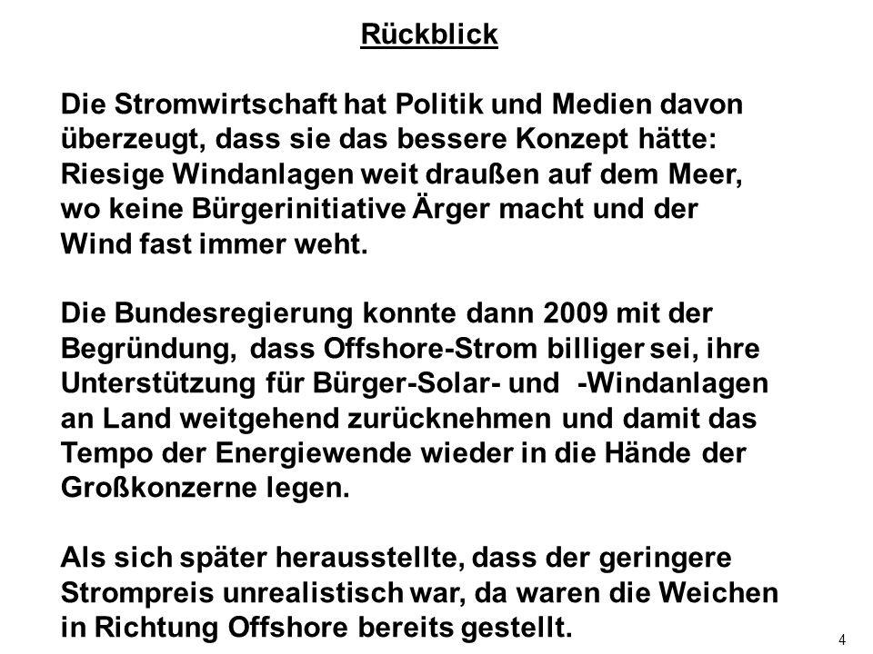 55 Das Märchen vom Aufladen der skandinavischen Pumpspeicherkraftwerke aus deutschen Offshore-Windparks Die Windparks haben 2 Aufgaben: 1.