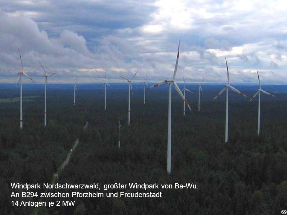 69 Windpark Nordschwarzwald, größter Windpark von Ba-Wü.