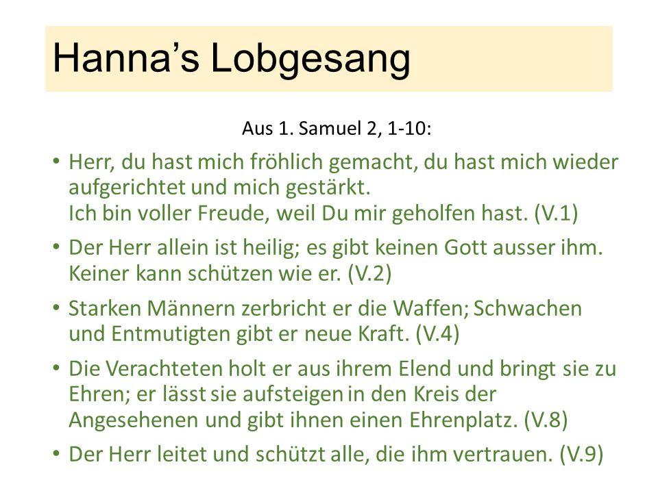 Hanna's Lobgesang Aus 1.