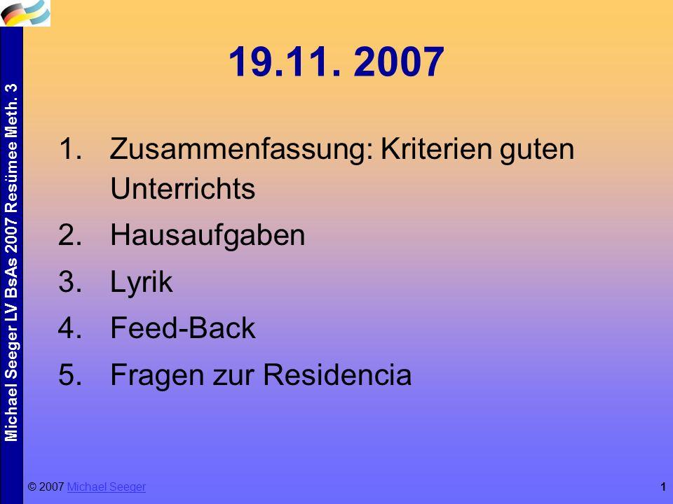 Michael Seeger LV BsAs 2007 Resümee Meth. 3 1 19.11.