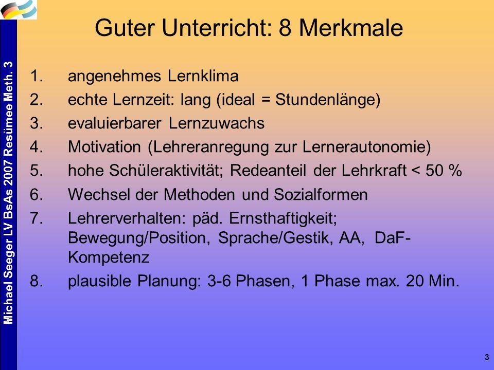 Michael Seeger LV BsAs 2007 Resümee Meth.3 4... und so haben wir es in Methodik II beschrieben...
