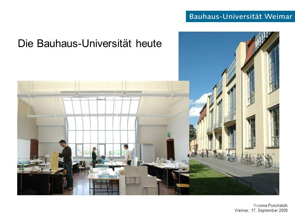 Yvonne Puschatzki Weimar, 17. September 2008 Die Bauhaus-Universität heute