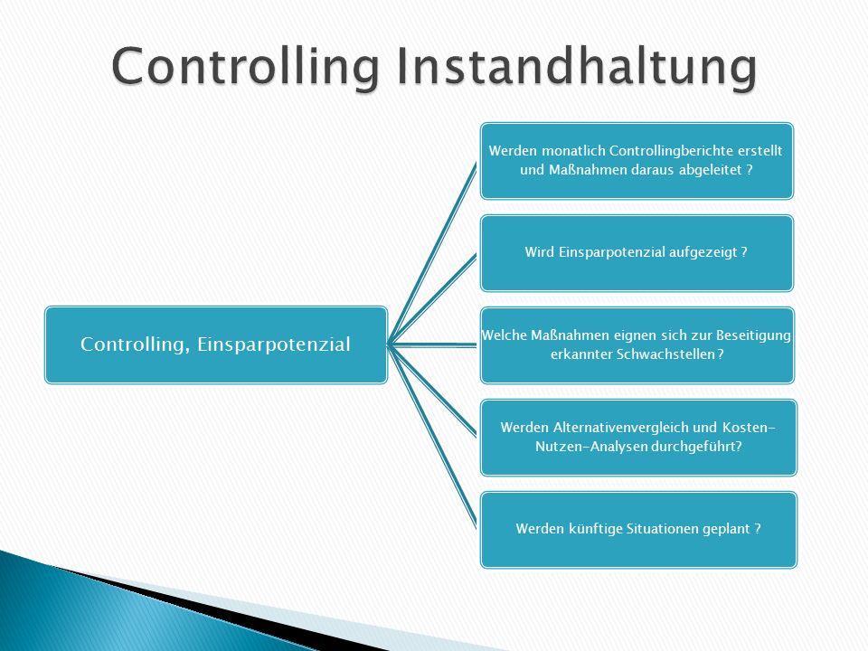 Controlling, Einsparpotenzial Werden monatlich Controllingberichte erstellt und Maßnahmen daraus abgeleitet ? Wird Einsparpotenzial aufgezeigt ? Welch