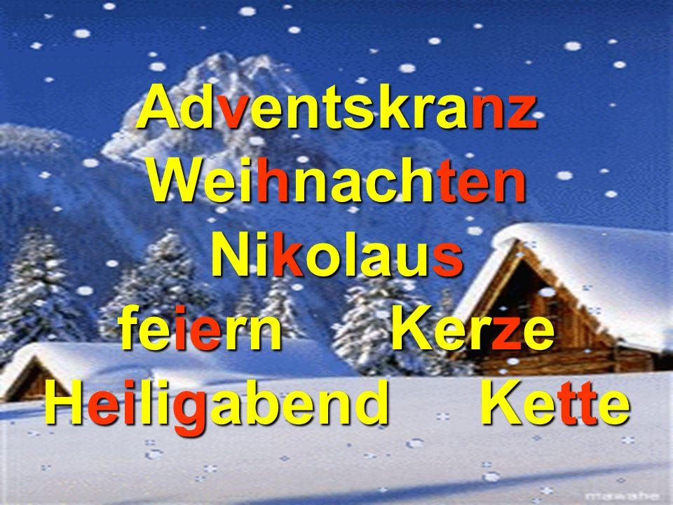 Adventskranz Weihnachten Nikolaus feiern Kerze Heiligabend Kette