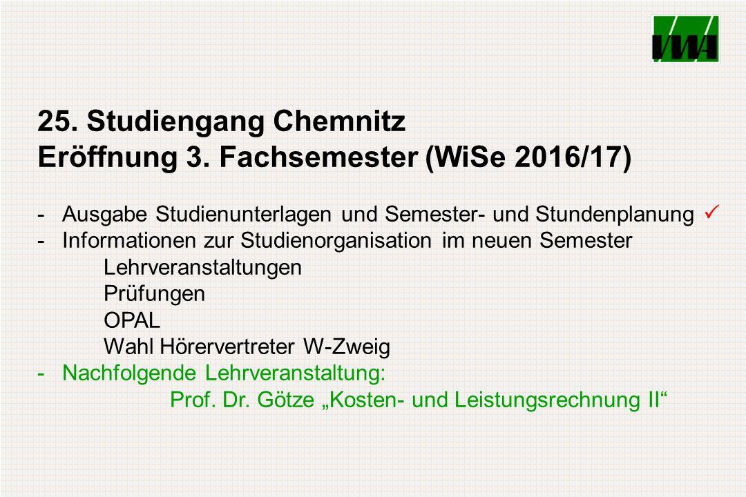 25. Studiengang Chemnitz Eröffnung 3.