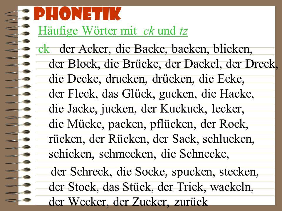 Phonetik Häufige Wörter mit langem i !!.