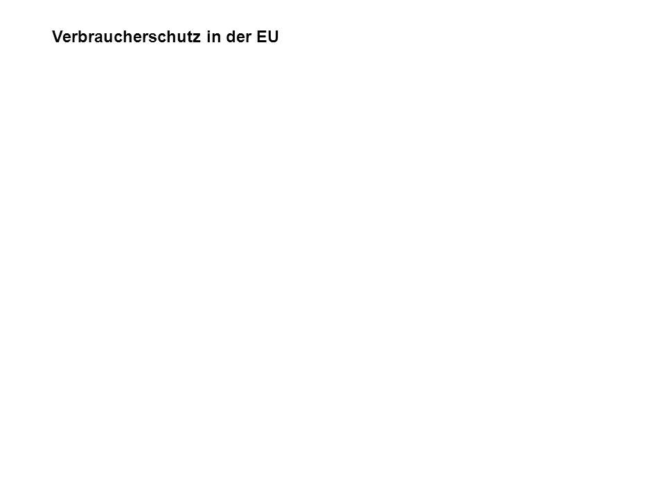 Verbraucherschutz in der EU