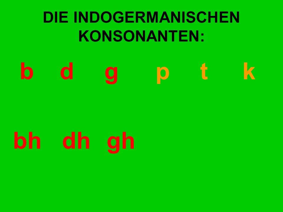 DIE INDOGERMANISCHEN KONSONANTEN: bd gp t k bhdhgh