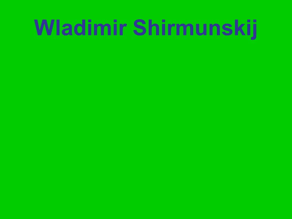 Wladimir Shirmunskij