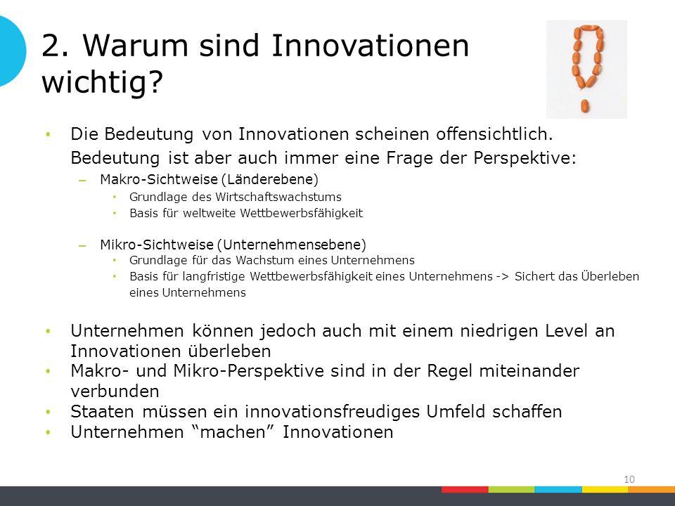 2. Warum sind Innovationen wichtig. Die Bedeutung von Innovationen scheinen offensichtlich.