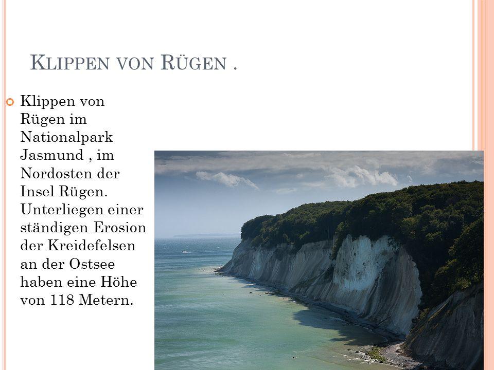 K LIPPEN VON R ÜGEN. Klippen von Rügen im Nationalpark Jasmund, im Nordosten der Insel Rügen.