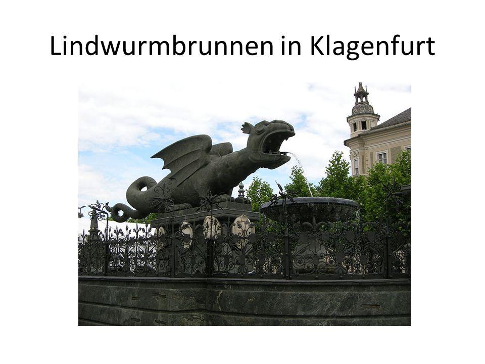 Lindwurmbrunnen in Klagenfurt