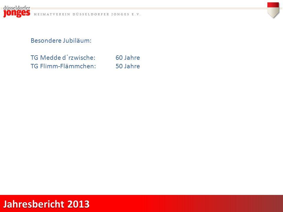 Besondere Jubiläum: TG Medde d´rzwische:60 Jahre TG Flimm-Flämmchen:50 Jahre