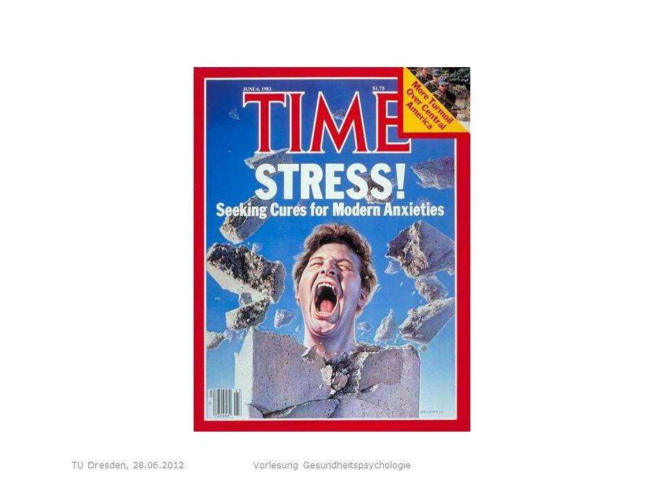 Folie 82 TU Dresden, 28.06.2012Vorlesung Gesundheitspsychologie Fragen Wie entsteht Stress nach Lazarus' transaktionalem Modell.