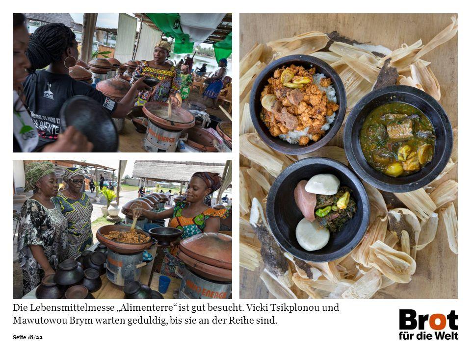"""Seite 18/22 Die Lebensmittelmesse """"Alimenterre ist gut besucht."""