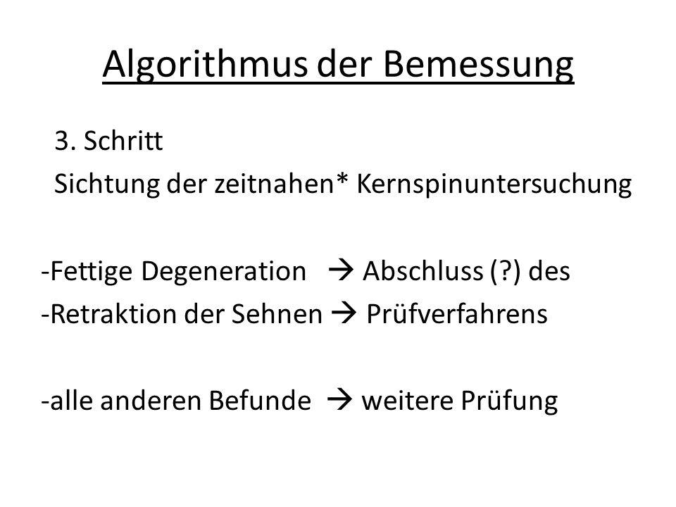 Algorithmus der Bemessung 3.
