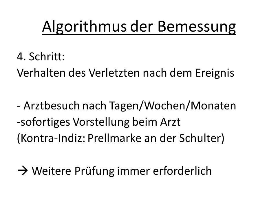 Algorithmus der Bemessung 4.