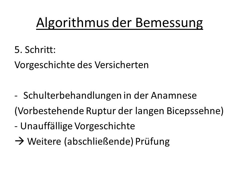 Algorithmus der Bemessung 5.
