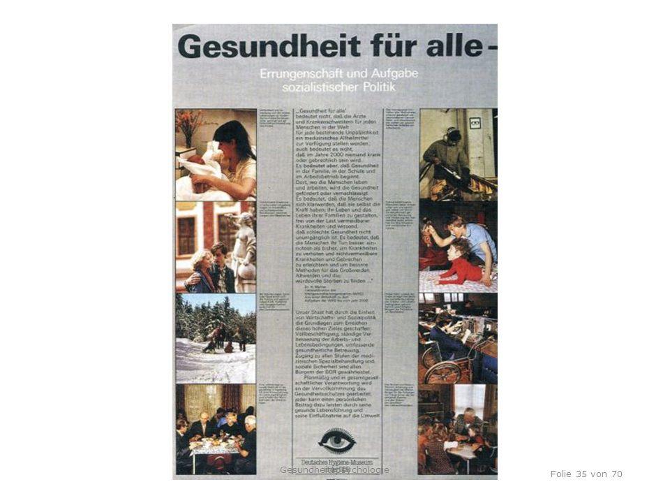 TU Dresden, 12.04.2012 Folie 35 von 70 Gesundheitspsychologie