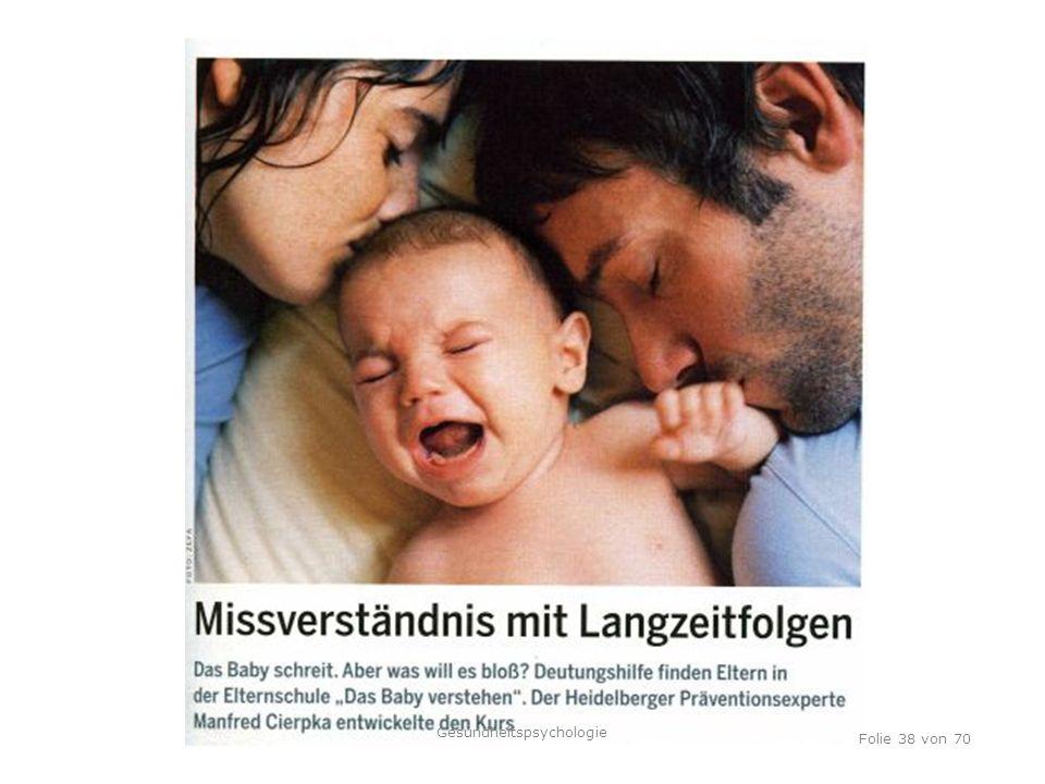 TU Dresden, 12.04.2012 Folie 38 von 70 Gesundheitspsychologie