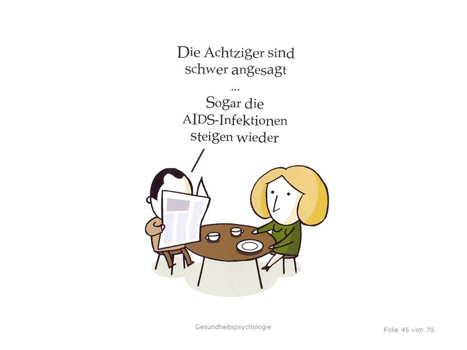 TU Dresden, 12.04.2012 Folie 45 von 70 Gesundheitspsychologie