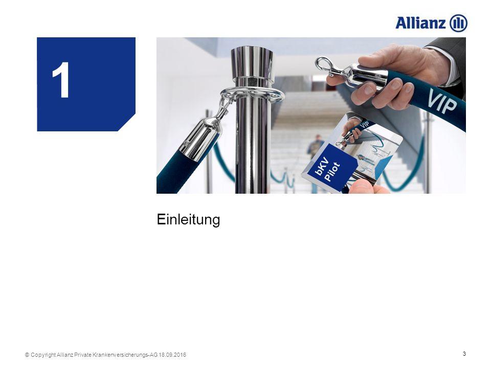 14 © Copyright Allianz Private Krankenversicherungs-AG 18.09.2016 Chance auf Folgegeschäft und Cross-Selling Welche Vorteile hat die neue bKV der Allianz für Sie.