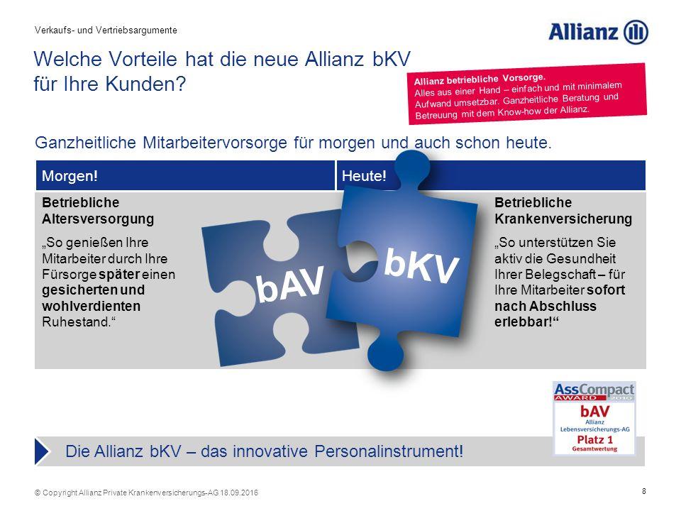 29 © Copyright Allianz Private Krankenversicherungs-AG 18.09.2016 1 4 Allianz PKV: Unsere Stärke ist Ihr Vorsprung