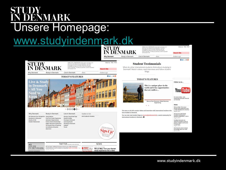 www.studyindenmark.dk Unsere Homepage: www.studyindenmark.dk www.studyindenmark.dk