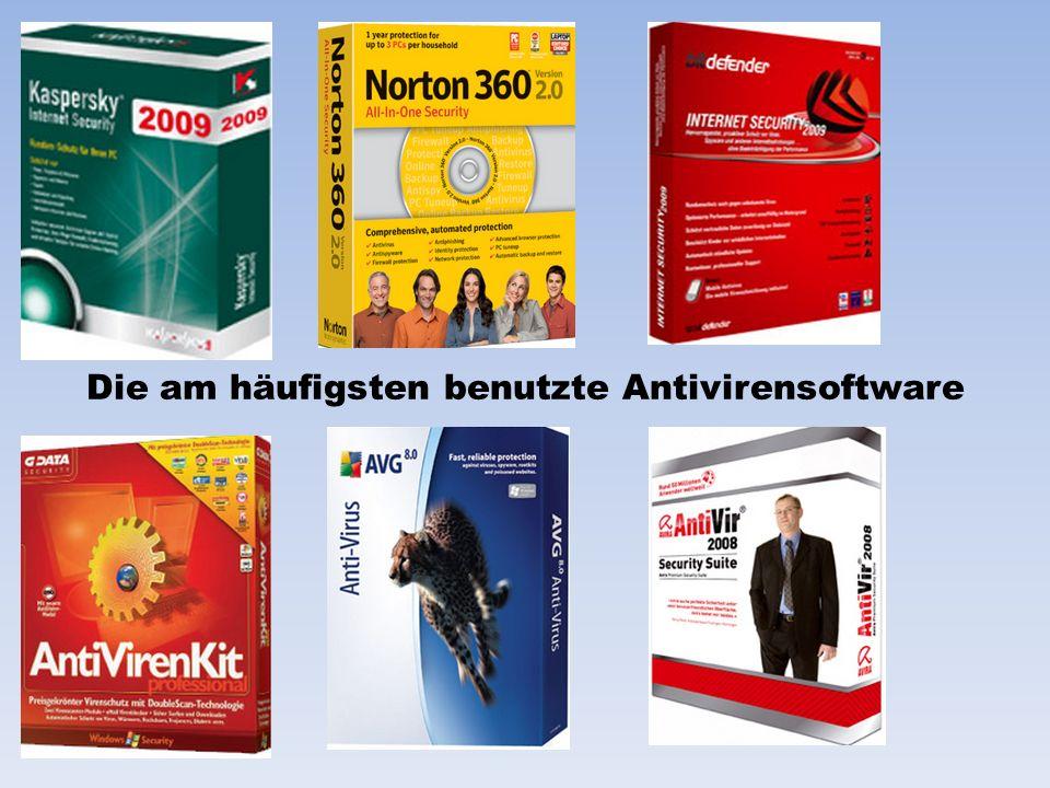 Die am häufigsten benutzte Antivirensoftware