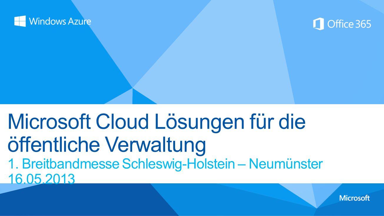 Microsoft Cloud Lösungen für die öffentliche Verwaltung 1.