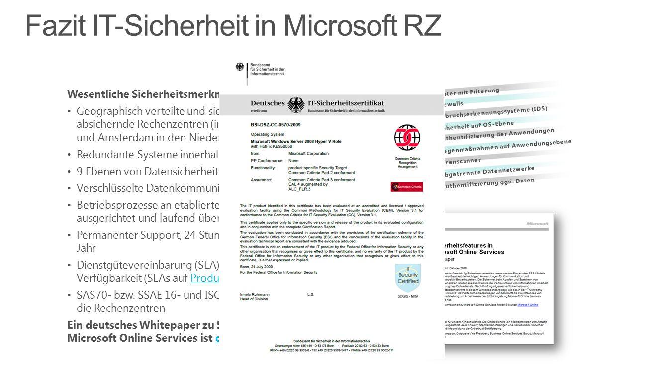 9.Authentifizierung ggü. Daten 8. Abgetrennte Datennetzwerke 7.