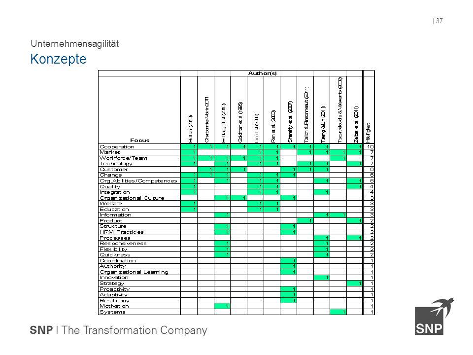 Unternehmensagilität Konzepte | 37