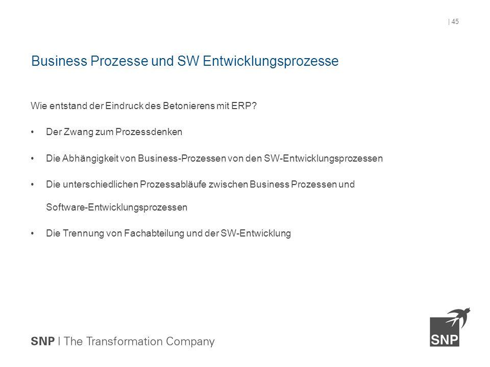 Wie entstand der Eindruck des Betonierens mit ERP? Der Zwang zum Prozessdenken Die Abhängigkeit von Business-Prozessen von den SW-Entwicklungsprozesse