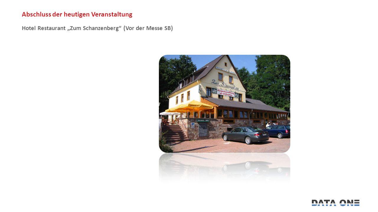 """Hotel Restaurant """"Zum Schanzenberg (Vor der Messe SB) Abschluss der heutigen Veranstaltung"""