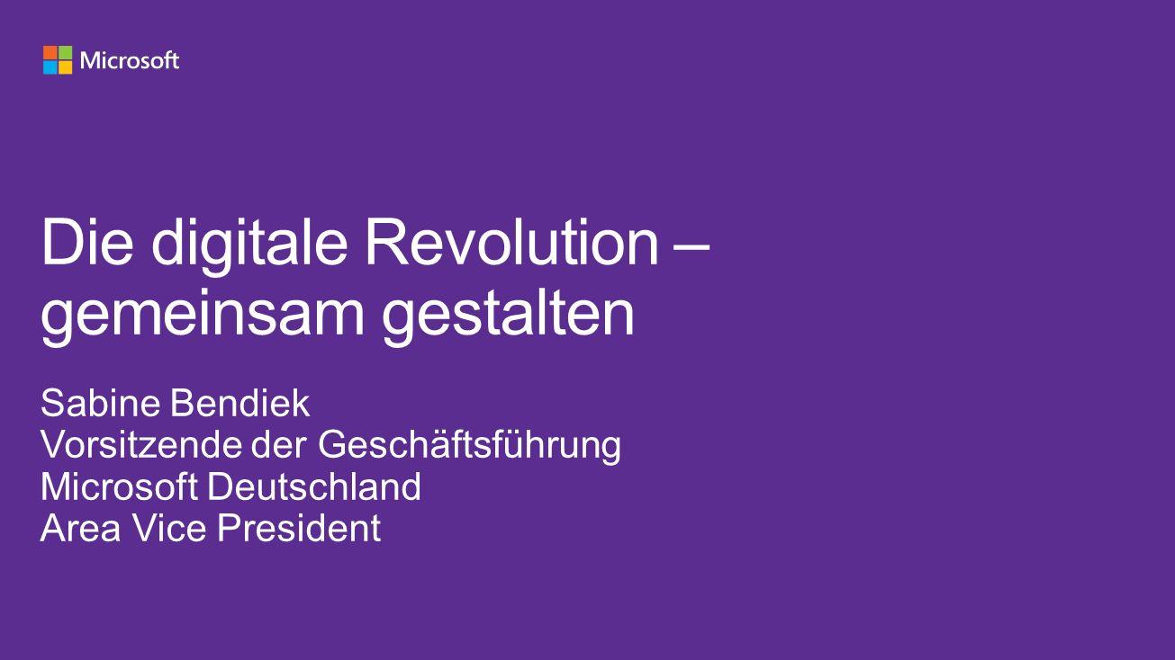 Die digitale Revolution – gemeinsam gestalten