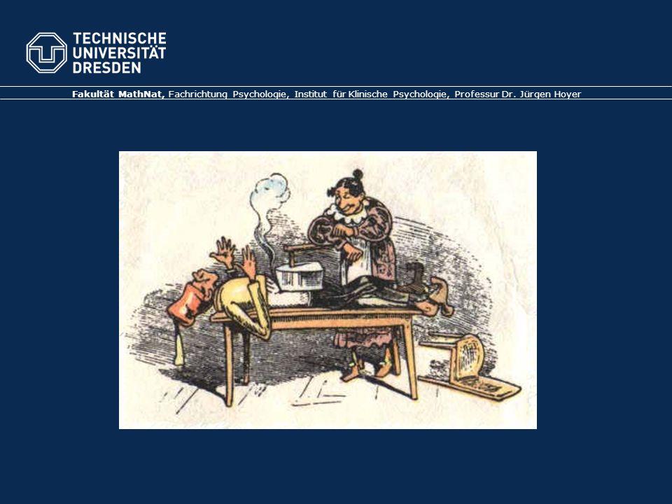 Folie 32 TU Dresden, 21.6.2012Gesundheitspsychologie Der Placeboeffekt (II) (Rief, Hofmann & Nestoriuc, 2008) Placeboeffekt wird in klinischen Studien berücksichtigt (links) Trennung spezifischer Effekt (Medikament) vs.