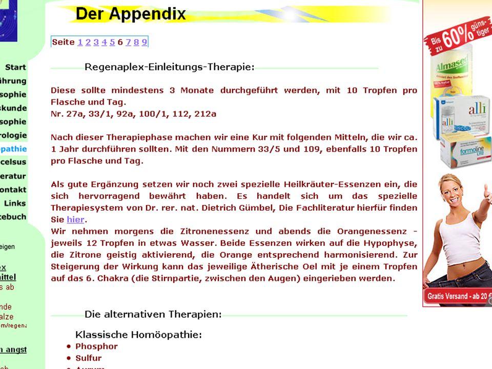 Alternative Behandlungsmethoden für GAS (within- effects) StudieMethode N total N treat prä HAM-A Score mean (SD) Behandlungs -dauer post HAM-A Score mean (SD) Dubois et al (2010)Balneotherapie23711724.4 (3.7)8 Wochen12.4 (4.8) Woelk & Schläfke (2010)Lavendelöl (Silexan)774025.0 (4.0)6 Wochen13.7 (6.7) Sherman et al (2010)Massage692324.8 (5.7)12 Wochen14,9 (6.2) Bonne et al (2003) Klassische Homeopathie442231.4 (7.2)10 Wochen21.7 (11.6) Bystritsky, Kerwin & Feusner (2008) Rosenwurz (Rhodax ® ) 10 23.4 (6.0)10 Wochen14.10 (8.06) Boerner et al (2003)Kava1294323.14 (3.19)8 Wochen8.37 (7.44) Woelk et al (2007) Ginko biloba (EGb 761 ® ) 107674 Wochen 480 mg3230.7 (5.2)14.3 (7.3) 240 mg 3529.7 (5.5) 12.1 (8.6) Alternative Medizin und Generalisierte Angst: Effekte wie durch Psychotherapie!(?) (Hoyer & Moeser, in Vorb.) ES = 2.8