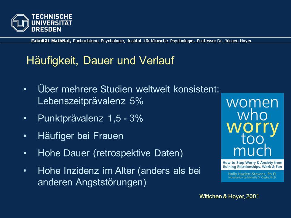 Folie 10 TU Dresden, 21.6.2012Gesundheitspsychologie Beispiel Generalisierte Angststörung 1.