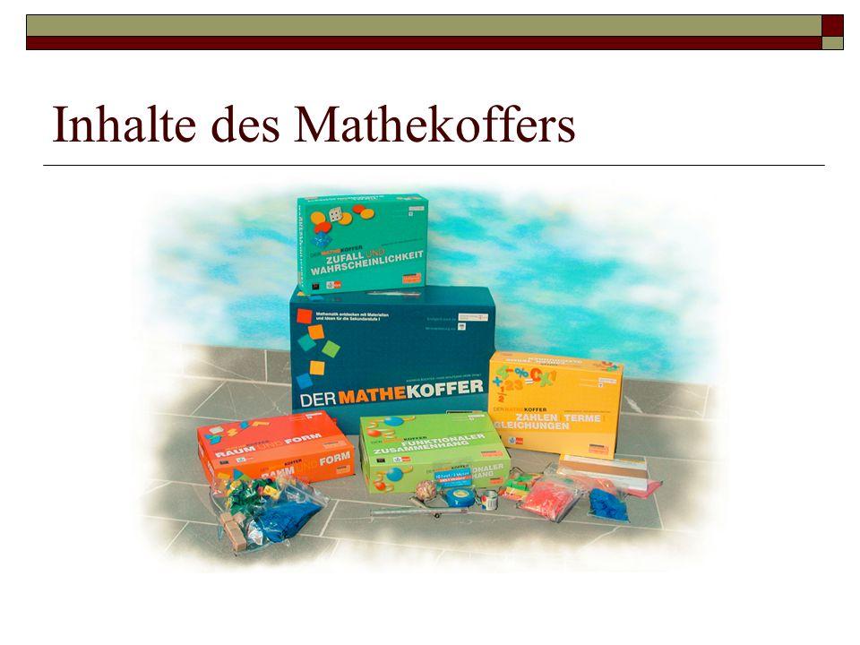 Inhalte des Mathekoffers