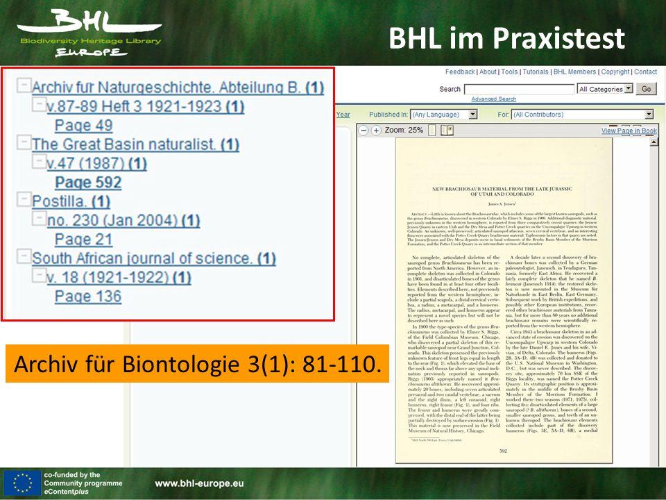 Archiv für Biontologie 3(1): 81-110.