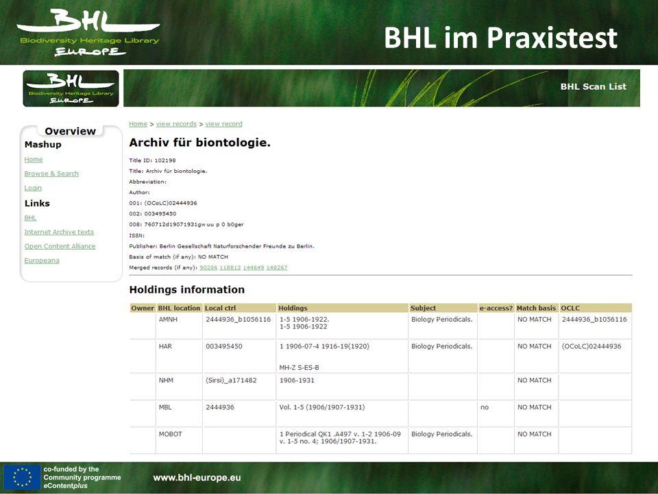 BHL im Praxistest
